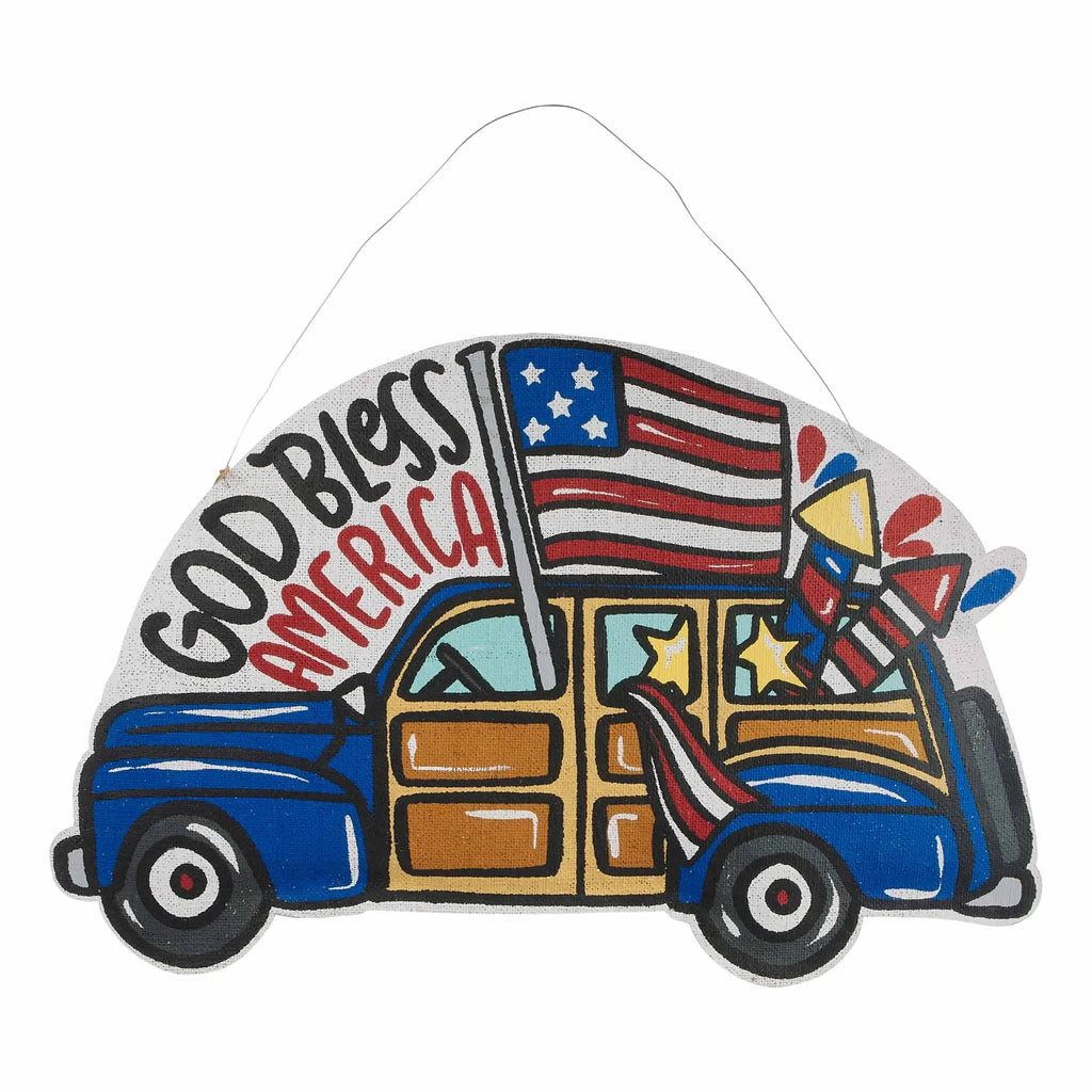 Reversible Summer Sun/Flag Truck Door Hanger (store pickup only) - Monogram Market