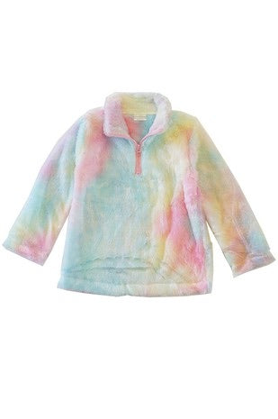 Toddler/Youth Cotton Candy Tie Dye Sherpa - Monogram Gifts
