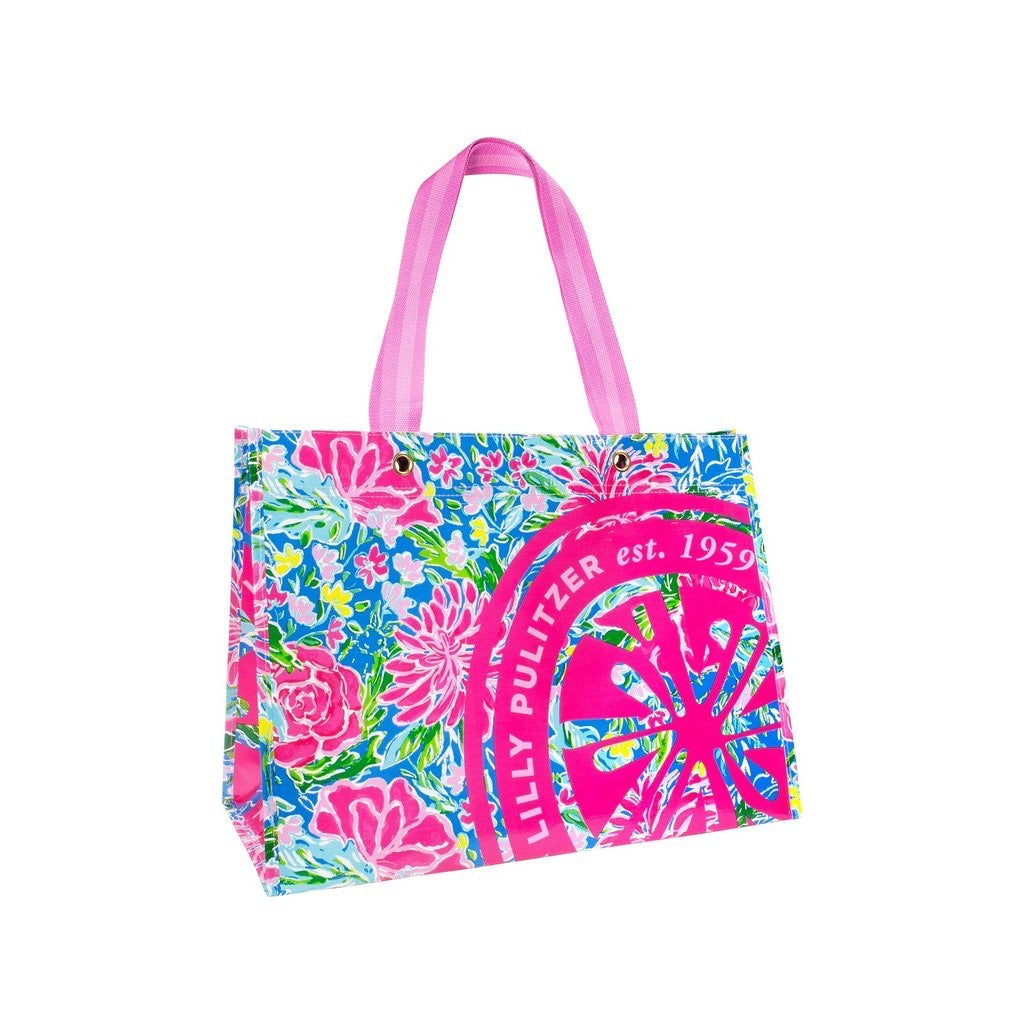 Lilly Pulitzer Market Carry All, Bunny Business - Monogram Market