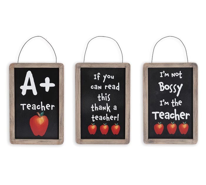 Teacher Chalkboard Christmas Ornaments - Monogram Gifts