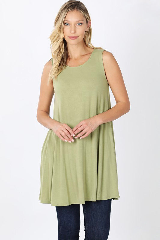 Sage Green Dress with Side Pockets - Monogram Market