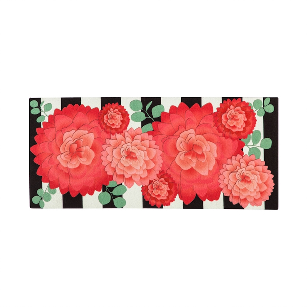 Stripes and Flowers Sassafras Switch Mat - Monogram Gifts