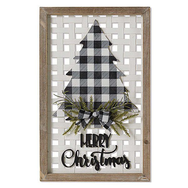 "Wood ""Merry Christmas"" Wall Sign - Monogram Gifts"