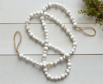 Distressed White Farmhouse Beads - Monogram Market