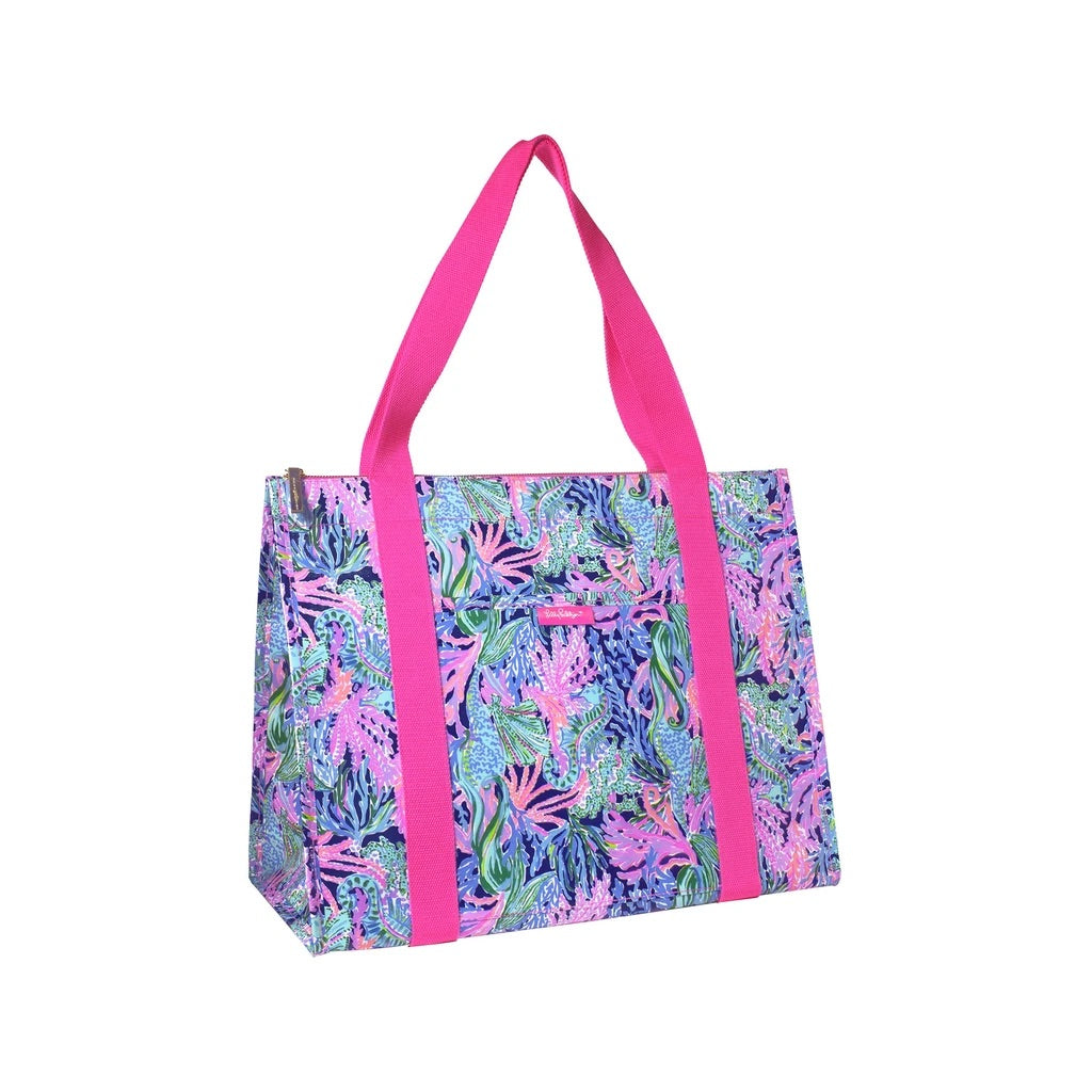Lilly Pulitzer Insulated Market Shopper, Bringing Mermaid Back - Monogram Gifts
