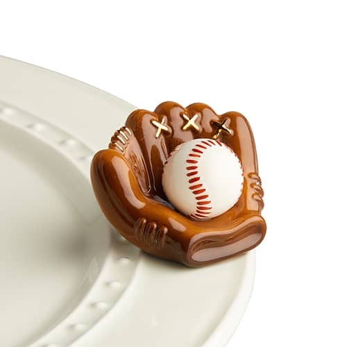 Nora Fleming Catch Some Fun! Baseball Mini - Monogram Gifts