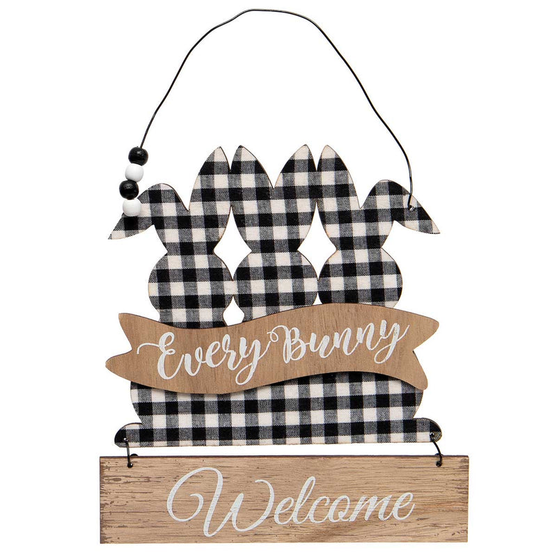 Triple Bunny Welcome Sign - Monogram Market