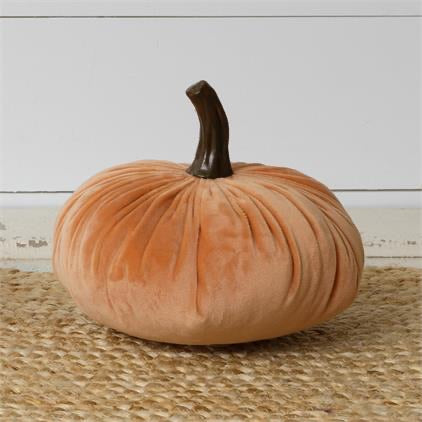 Orange Velvet Pumpkins - Monogram Market
