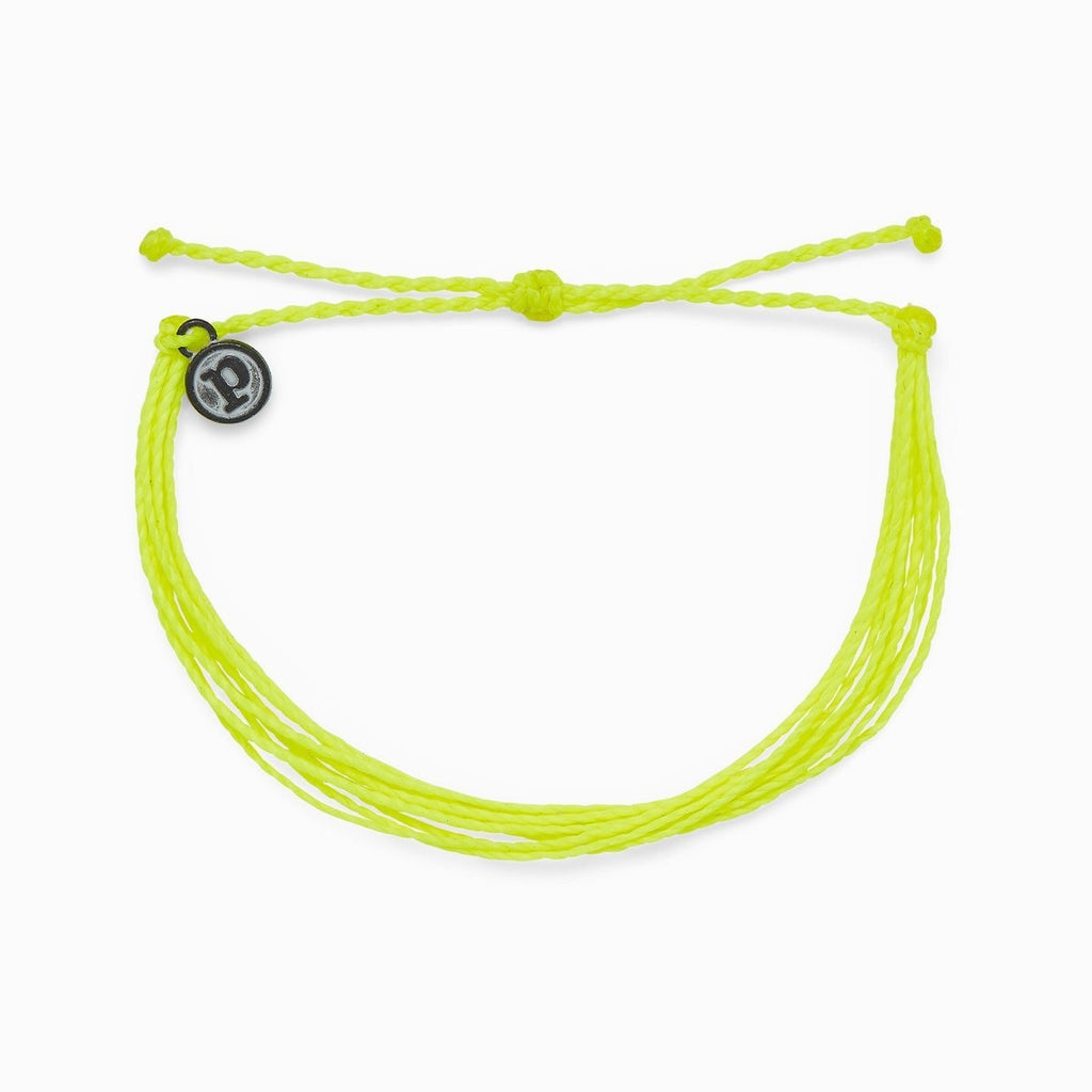 PuraVida Bright Solid Bracelet, Neon Yellow - Monogram Gifts