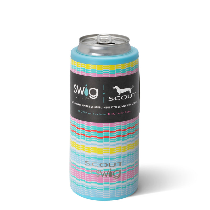 SCOUT + Swig Good Vibrations Skinny Can Cooler, 12 oz. - Monogram Market
