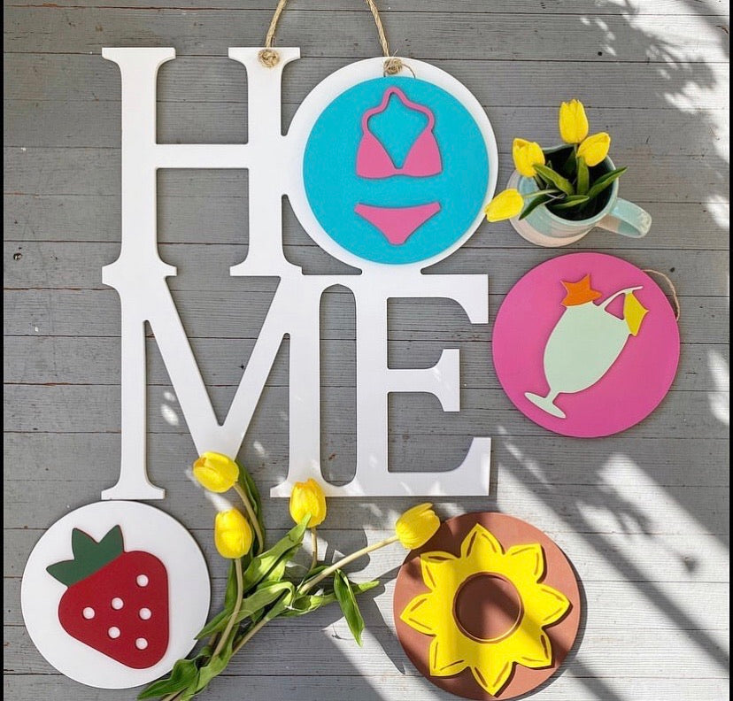 Interchangeable Hanging Home Sign *PICKUP ONLY* - Monogram Gifts