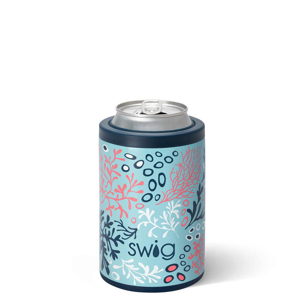 SWIG - 12oz Combo Can Cooler, Coral Me Crazy - Monogram Market