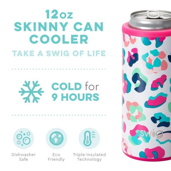 SWIG 12oz Skinny Can Cooler, Party Animal - Monogram Gifts