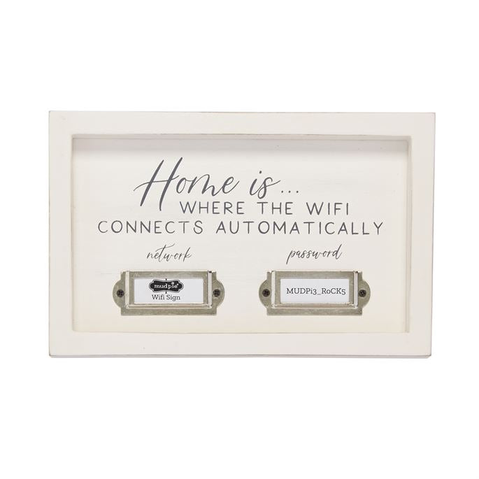Mud Pie Home WIFI Plaque - Monogram Gifts