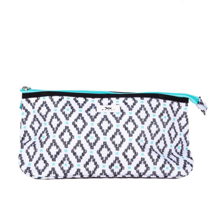 SCOUT Tight Lipped Makeup Bag, Teal Diamond - Monogram Market
