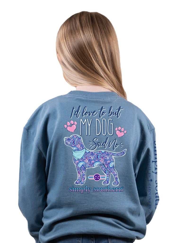 Simply Southern YOUTH - Said No Long Sleeve Tee - Monogram Gifts