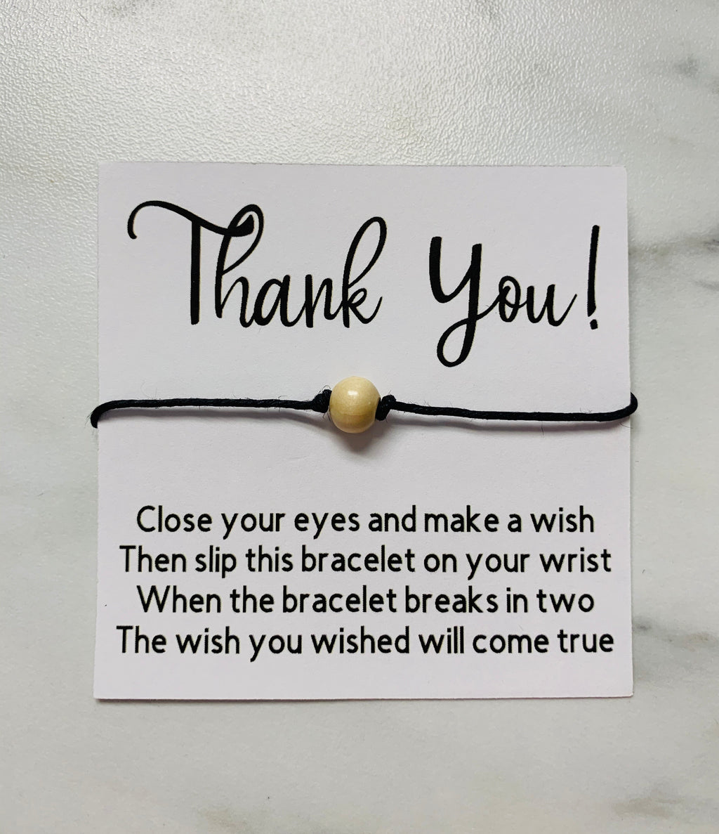 Wish Bracelet - Thank You - Monogram Gifts