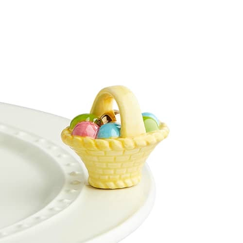 Nora Fleming A Tisket, A Tasket, Easter Basket Mini - Monogram Market