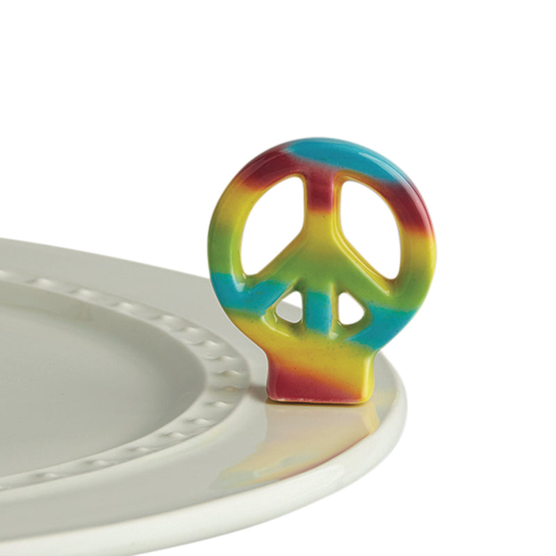 Nora Fleming Peace Out, Peace Sign Mini - Monogram Gifts