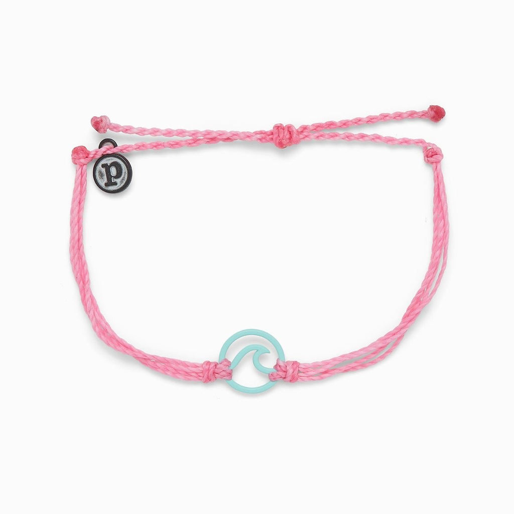 PuraVida, Aqua Enamel Wave Bracelet, Light Pink - Monogram Gifts