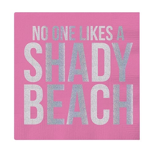 """No One Likes a Shady Beach"" Cocktail Napkins - Monogram Gifts"