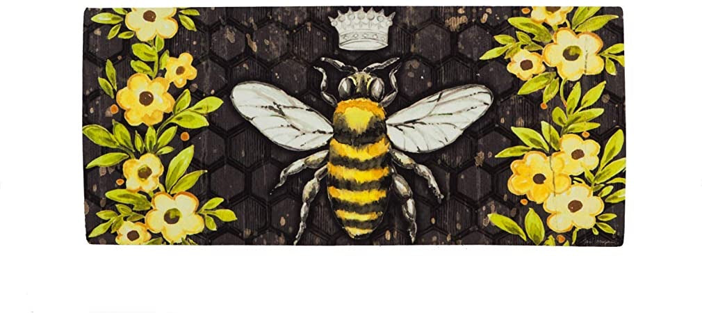 Bee Happy Queen Bee Sassafras Switch Mat - Monogram Gifts