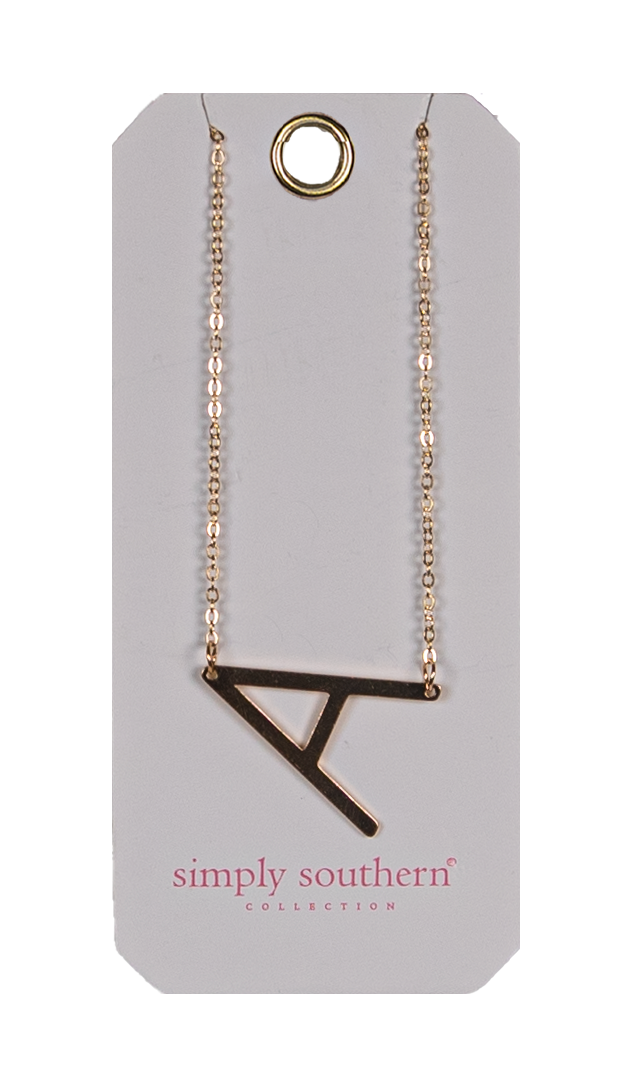Simply Southern Gold Initial Necklace - Monogram Market
