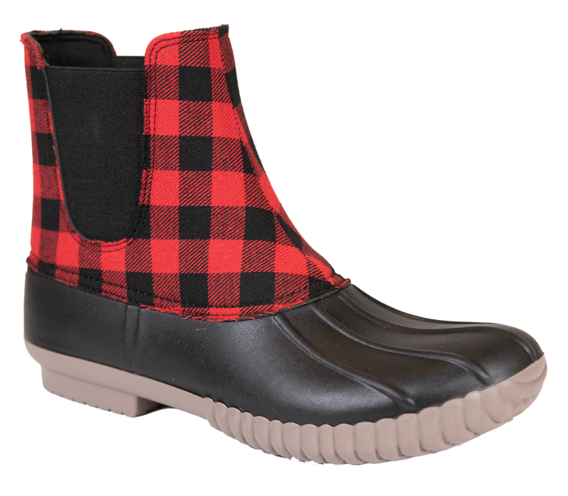 Simply Southern Plaid Slip On Boots - Monogram Gifts