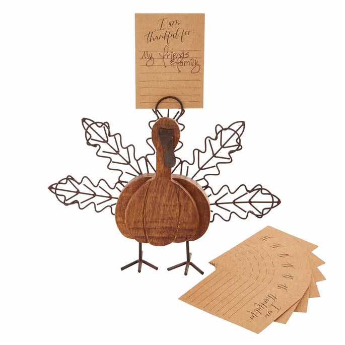 Mud Pie Thankful Turkey Card Holder