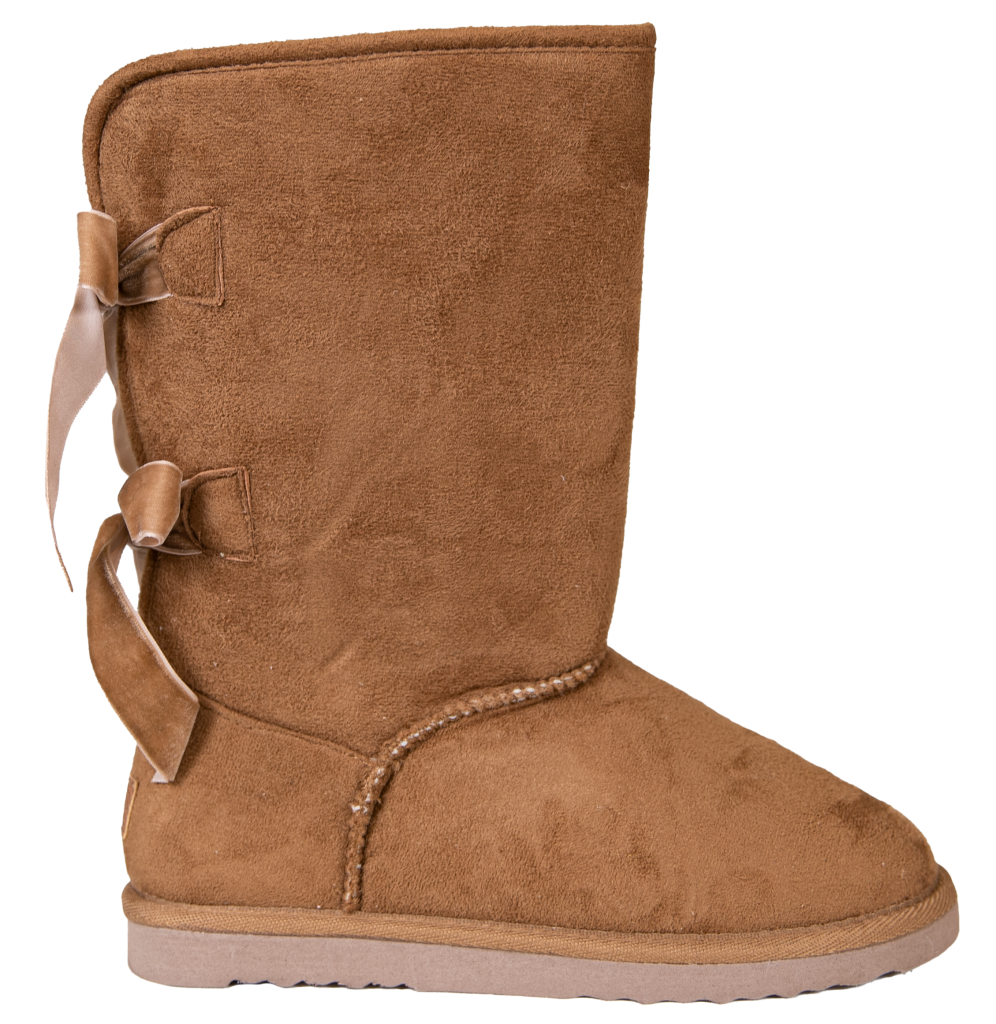 Simply Southern Bow Back Suede Boots - Tan - Monogram Market
