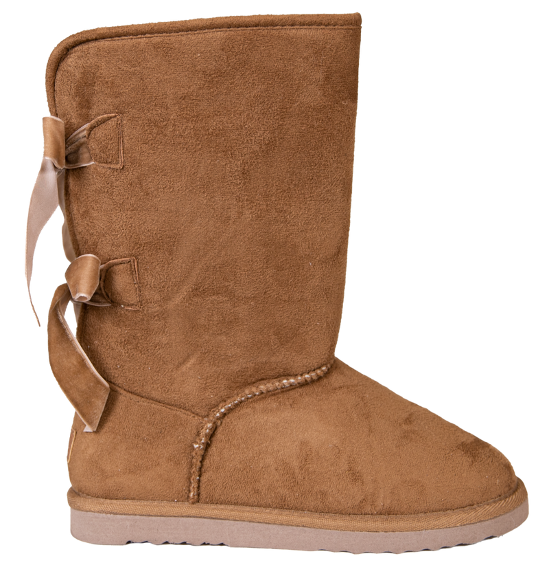 Simply Southern Bow Back Suede Boots - Tan - Monogram Gifts