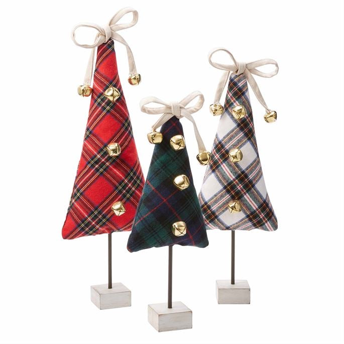 Mud Pie Tartan Fabric Trees