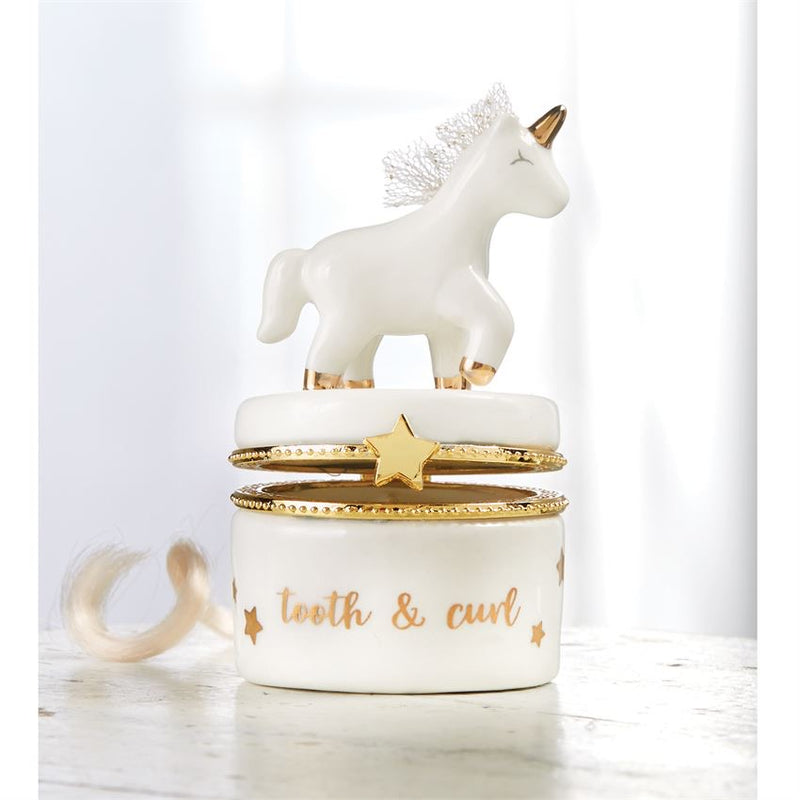 Mud Pie Unicorn Tooth and Curl Set - Monogram Gifts