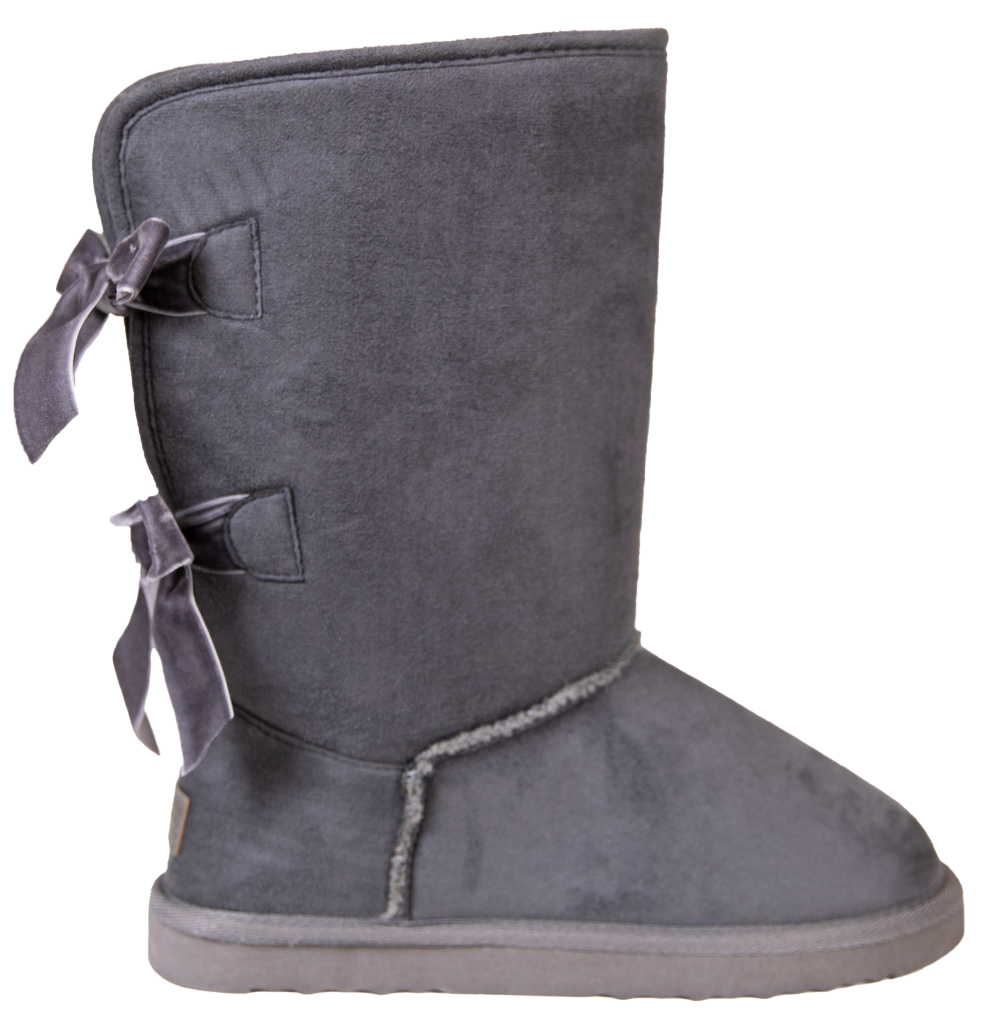 Simply Southern Bow Back Suede Boots - Gray - Monogram Gifts