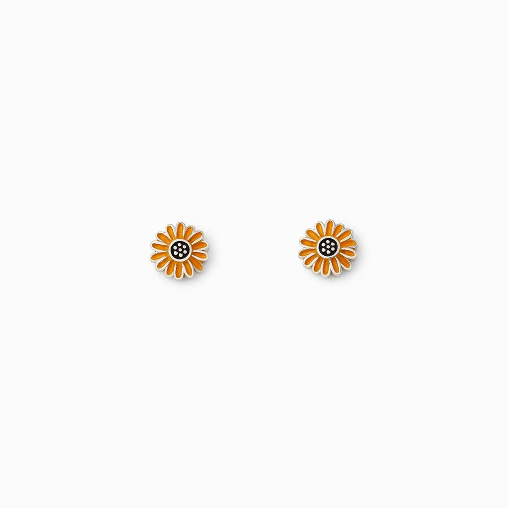 PuraVida, Enamel Sunflower Stud Earrings - Monogram Gifts