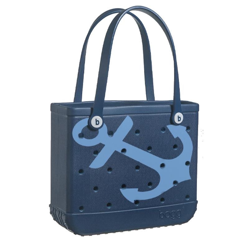 Baby Bogg Bag - Small Tote, LIMITED EDITION Navy Blue with Anchors - Monogram Market