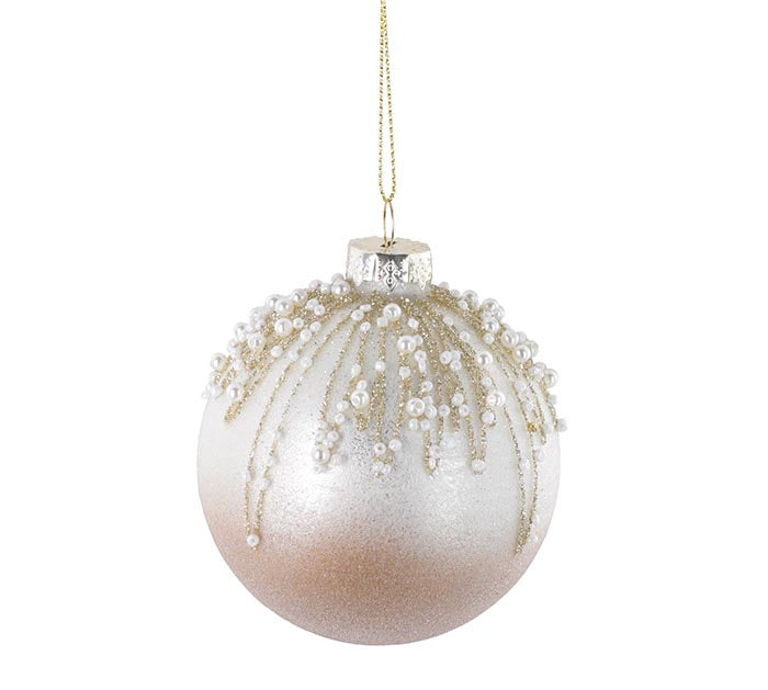 Elegant Champagne Glass Christmas Ornament - Monogram Gifts