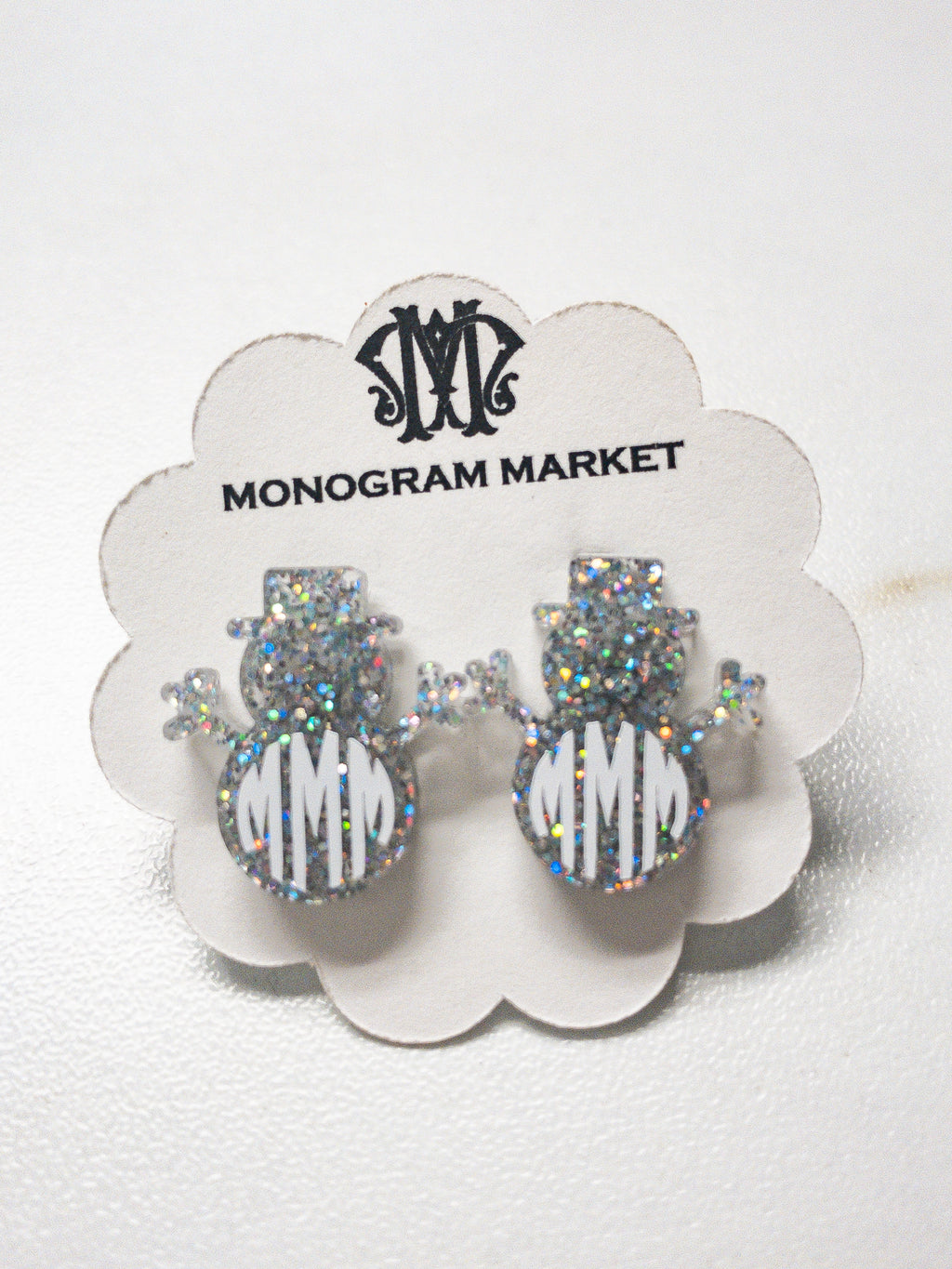 Monogram Market's Personalized Snowman Earrings - Monogram Gifts