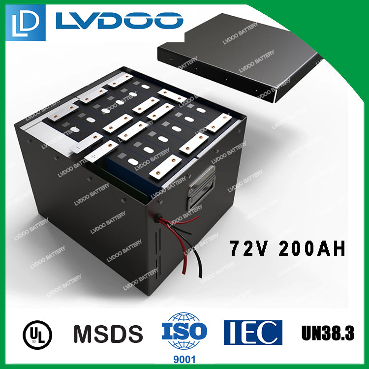 72v 200ah lithium ion battery pack for electric car