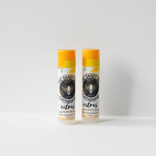 Citrus Organic Beeswax Lip Balm Two Pack