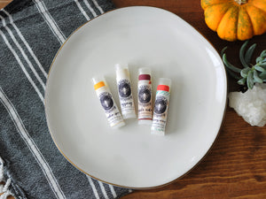 Limited Edition Seasonal Organic Beeswax Lip Balm Four Pack