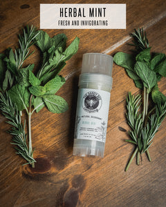 Herbal Mint All Natural Deodorant