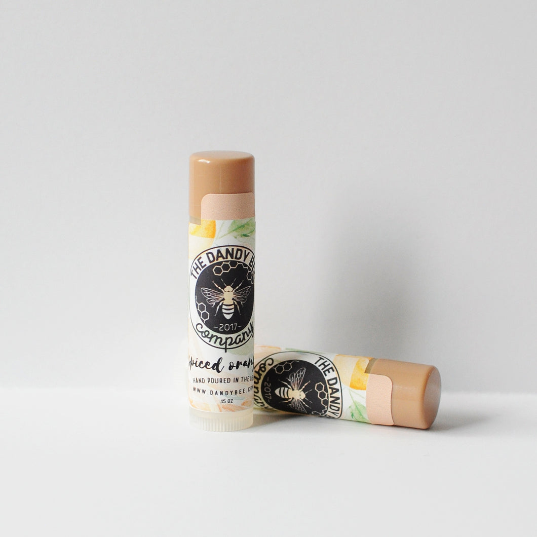 Spiced Orange Organic Beeswax Lip Balm Two Pack