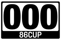 86CUP Magnetic Number Plates