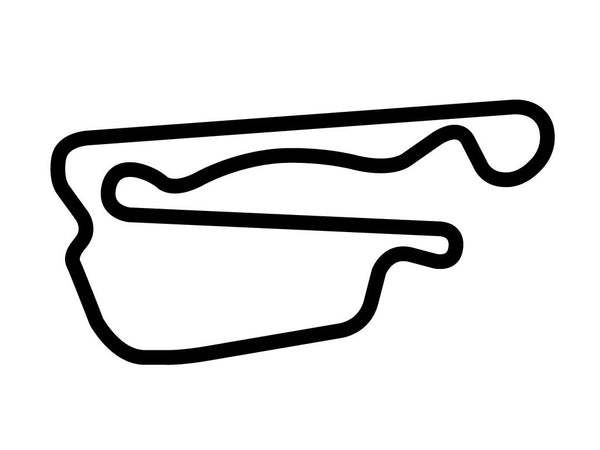 Auto Club Speedway Sports Car Layout Decal