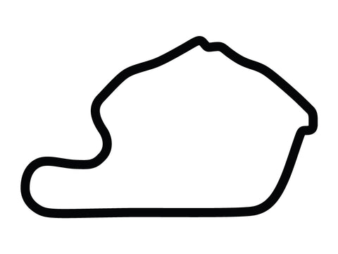 Lime Rock Park with Chicanes Variant 2 Decal