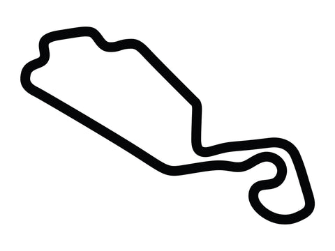 New Jersey Motorsports Park Thunderbolt with Both Chicanes Decal