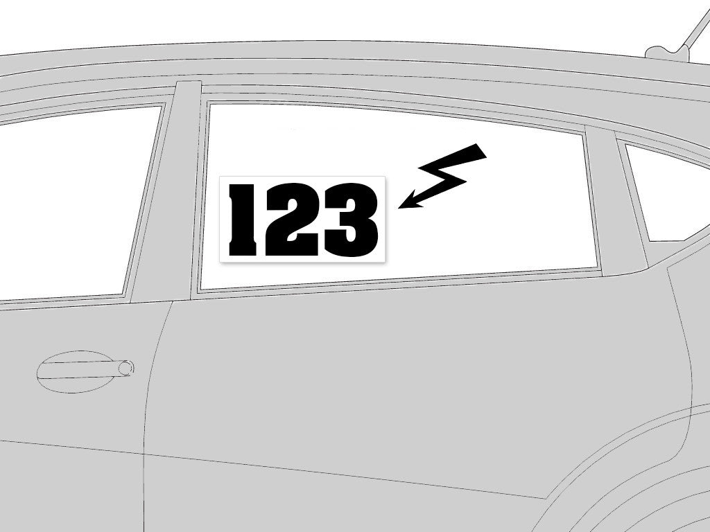 Static window cling numbers trackdecals for Window cling letters and numbers