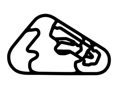 Pocono Int'l Raceway Full Course Layout Decal