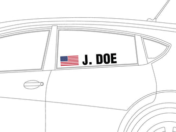 Driver Name Vinyl Decal